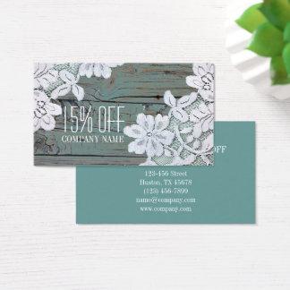 Madera blanca rústica del granero del trullo del tarjeta de visita