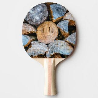 Madera - combustible caliente pala de ping pong