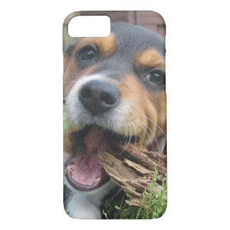 ¿Madera conseguida? Perrito feliz del beagle Funda iPhone 7