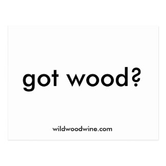 ¿madera conseguida? , POSTAL