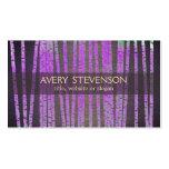 Madera de bambú púrpura del balneario de la salud  plantillas de tarjetas de visita