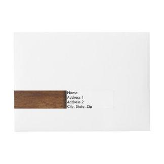 Madera de construcción simple de madera llana etiquetas postales