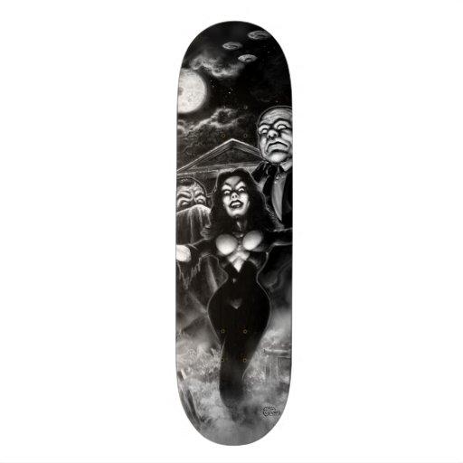 Madera de Ed del plan 9 de Vampira Patín Personalizado