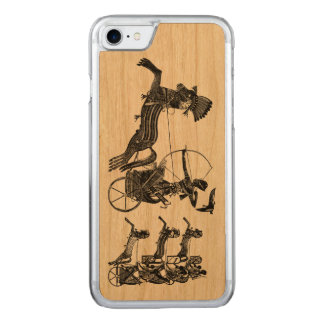 Madera del iPhone del arte del vintage de los Funda Para iPhone 8/7 De Carved