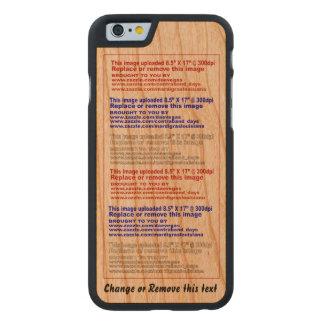 Madera delgada del teléfono del caso para el funda de iPhone 6 carved® slim de cerezo