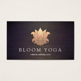 Madera elegante del instructor de la meditación de tarjeta de negocios