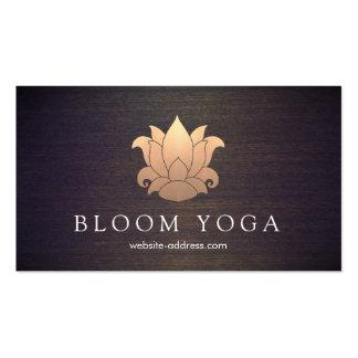 Madera elegante del profesor de la meditación de tarjetas de visita