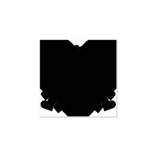 Madera linda del arte del arte de los corazones sello de caucho