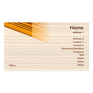 Madera - negocio tarjetas de visita