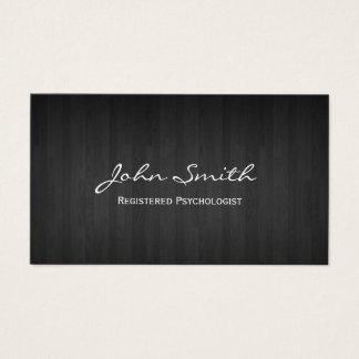 Madera oscura elegante del psicólogo tarjeta de visita