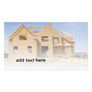 madera que enmarca para una construcción de la nue plantilla de tarjeta de negocio