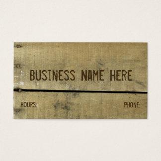 Madera resistida antigüedad tarjeta de visita