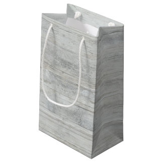 Madera rústica apenada y lamentable bolsa de regalo pequeña
