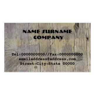madera plantilla de tarjeta de negocio