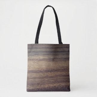 Madera texturizada bolsa de tela