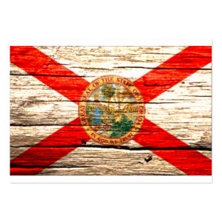 Madera vieja de la bandera de la Florida Plantillas De Tarjetas De Visita