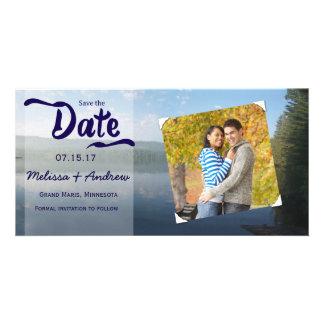 Maderas de Northren que casan reserva la fecha Tarjeta Fotográfica Personalizada