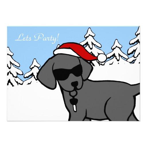 Maderas negras frescas de la nieve del navidad del invitacion personal