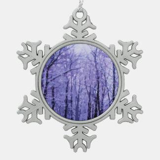 Maderas púrpuras del invierno adornos