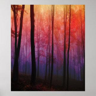 Maderas susurrantes, arte del paisaje del bosque