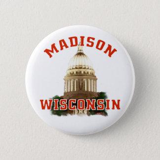 Madison, Wisconsin Chapa Redonda De 5 Cm