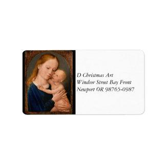 Madonna con el niño de Cristo Etiquetas De Dirección