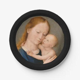Madonna con el niño de Cristo Plato De Papel