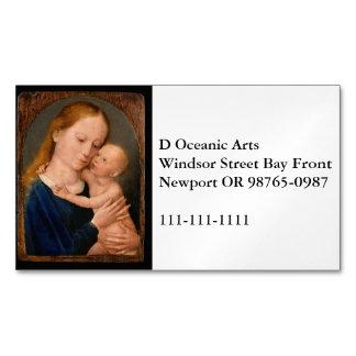 Madonna con el niño de Cristo Tarjetas De Visita Magnéticas