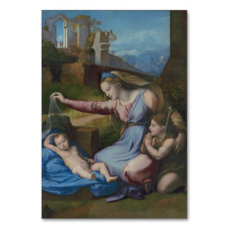 Madonna con Raphael azul de la diadema