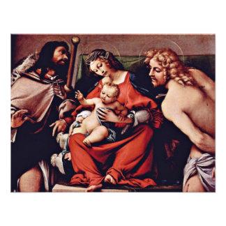 Madonna con St Roch y St Sebastian por la loteri Comunicados
