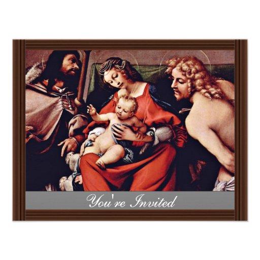 Madonna con St. Roch y St. Sebastian por la loteri Invitaciones Personalizada