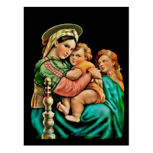 Madonna de la silla tarjeta postal