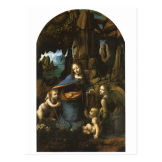 Madonna de las rocas de Leonardo da Vinci c.1483 Postal