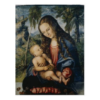 Madonna debajo del árbol de abeto, c.1510 postal
