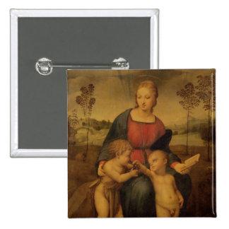 Madonna del Goldfinch, c.1506 Chapa Cuadrada 5 Cm