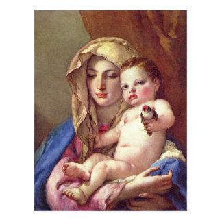 Madonna del Goldfinch Postal