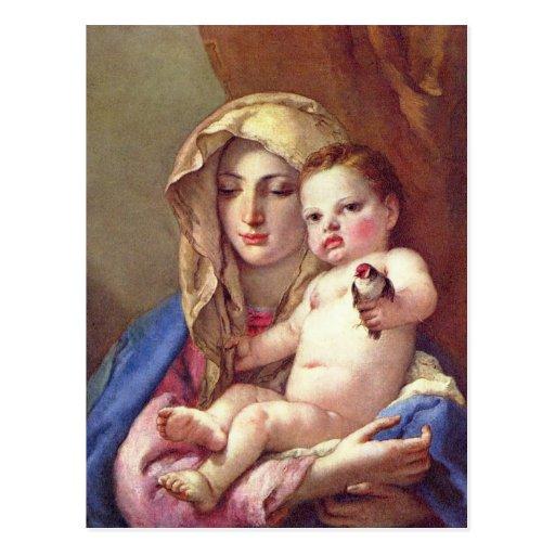 Madonna del Goldfinch Postales