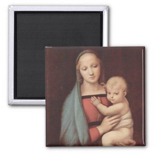 Madonna Del Granduca por Raphael Imán Para Frigorifico