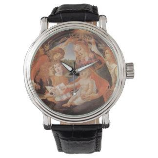 Madonna del Magnificat, Botticelli, renacimiento Relojes De Mano
