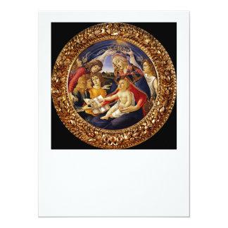 Madonna del Magnificat Invitación 13,9 X 19,0 Cm