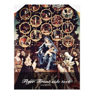 Madonna del rosario por la loteria Lorenzo (el mej Folleto 21,6 X 28 Cm