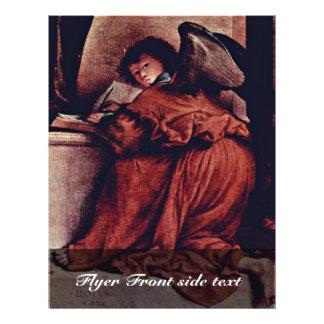 Madonna Enthroned con ángeles y santos dejados: St Tarjetón