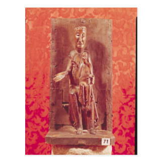 Madonna negro, escuela catalana, siglo XI Postal