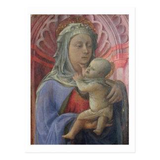 Madonna y niño, c.1430 (tempera en el panel) postal