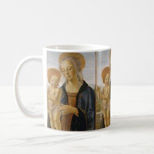Madonna y niño de Andrea del Verrocchio Taza De Café