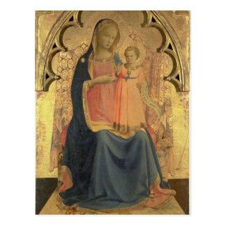 Madonna y niño, el panel central de un tríptico postal
