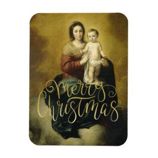 Madonna y niño, imanes del navidad de la bella