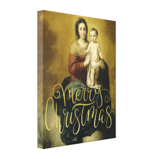 Madonna y niño, lona del navidad de la bella arte