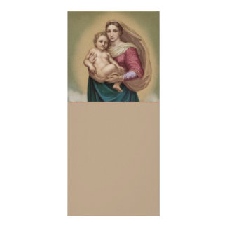 Madonna y niño lona personalizada