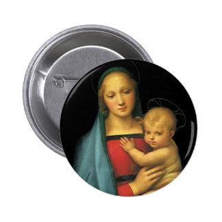 Madonna y niño, Madonna del Granduca por Raphael Chapa Redonda 5 Cm